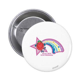 Little Miss Scatterbrain | Rainbow & Stars Button