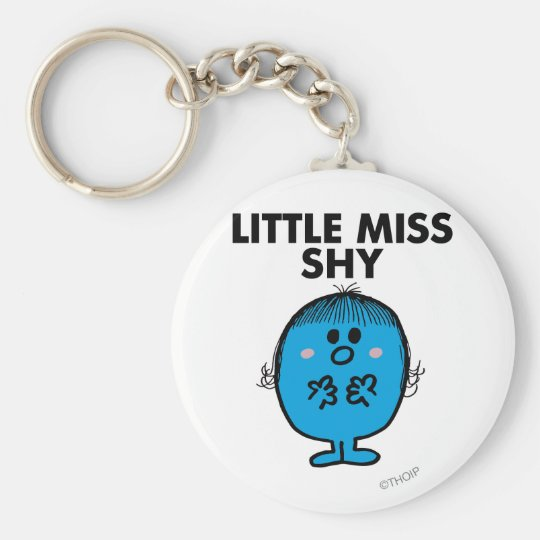 Little Miss Shy | Black Lettering Keychain