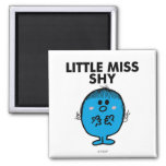 Little Miss Shy | Black Lettering 2 Inch Square Magnet