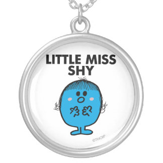 Little Miss Shy | Black Lettering Silver Plated Necklace