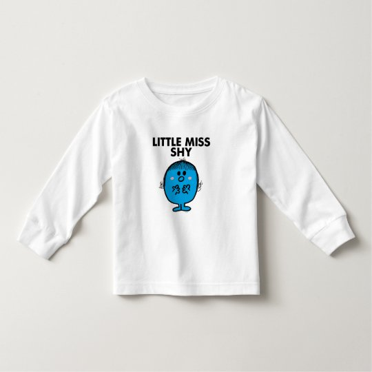 Little Miss Shy | Black Lettering Toddler T-shirt