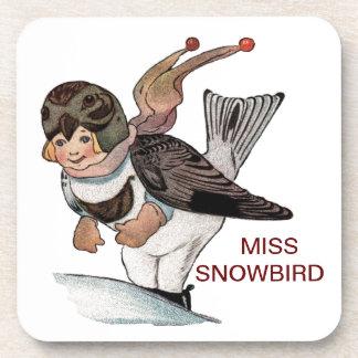 LITTLE MISS SNOWBIRD DRINK COASTER