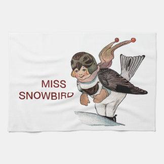 LITTLE MISS SNOWBIRD HAND TOWEL