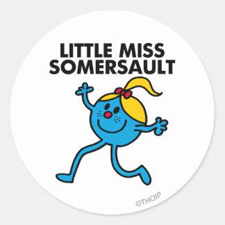 Little Miss Somersault Walking Tall Classic Round Sticker