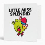 Little Miss Splendid | Black Lettering 3 Ring Binder