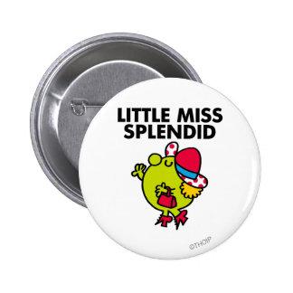 Little Miss Splendid | Black Lettering Button