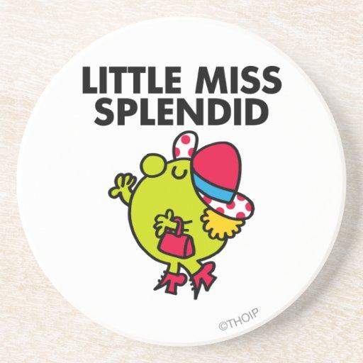 Little Miss Splendid | Black Lettering Drink Coaster