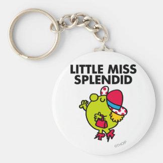 Little Miss Splendid | Black Lettering Keychain