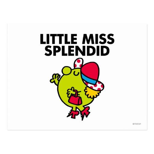 Little Miss Splendid | Black Lettering Postcard