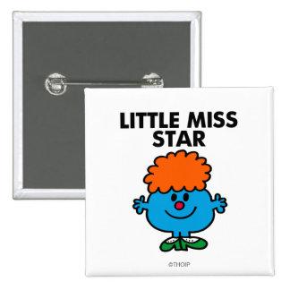 Little Miss Star | Black Lettering Button