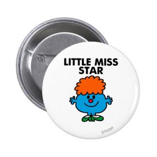 Little Miss Star | Black Lettering Pinback Button
