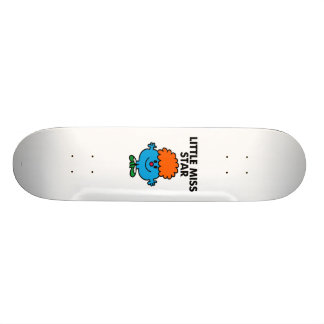 Little Miss Star | Black Lettering Skateboard