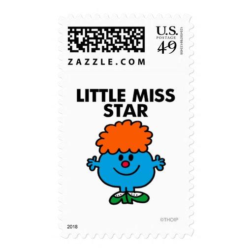 Little Miss Star   Black Lettering Stamp