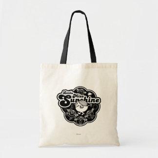Little Miss Sunshine | Black & White Budget Tote Bag