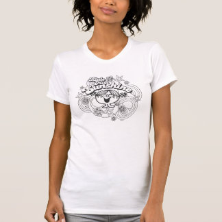 Little Miss Sunshine | Black & White Flowers Tshirts