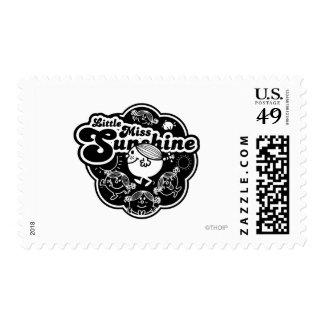 Little Miss Sunshine | Black & White Postage
