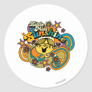 Little Miss Sunshine | Floral Delight Classic Round Sticker