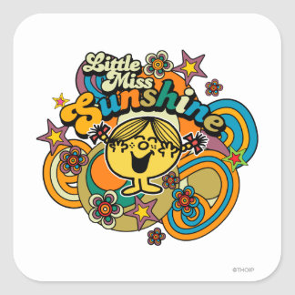 Little Miss Sunshine | Floral Delight Square Sticker