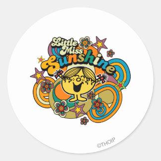 Little Miss Sunshine | Floral Delight Classic Round Sticker