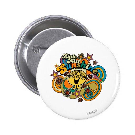 Little Miss Sunshine Floral Swirls Buttons