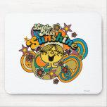 Little Miss Sunshine Floral Swirls Mousepads