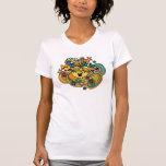 Little Miss Sunshine Floral Swirls Tee Shirt