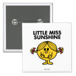 Little Miss Sunshine | Funny & Freckled 2 Inch Square Button