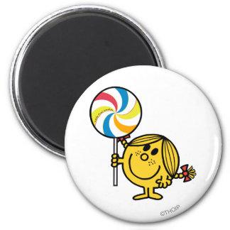 Little Miss Sunshine   Giant Lollipop 2 Inch Round Magnet