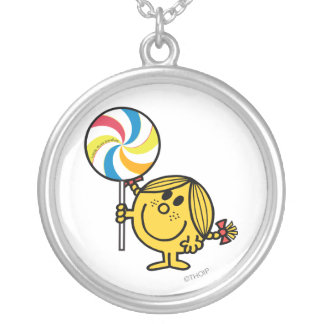 Little Miss Sunshine | Giant Lollipop Silver Plated Necklace
