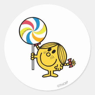 Little Miss Sunshine | Giant Lollipop Classic Round Sticker