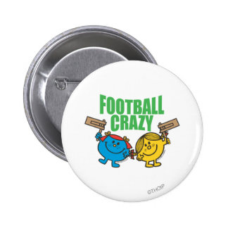 Little Miss Sunshine & Giggles Football Crazy 2 Inch Round Button