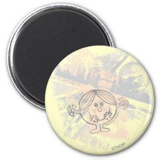 Little Miss Sunshine   Hello Sunshine 2 Inch Round Magnet