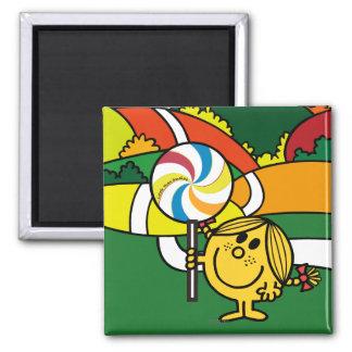 Little Miss Sunshine   Hills & Lollypop 2 Inch Square Magnet