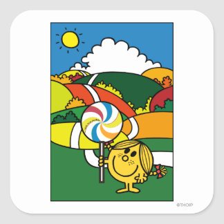 Little Miss Sunshine | Hills & Lollypop Square Sticker