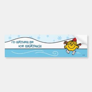 Little Miss Sunshine Ice Skating Bumper Sticker