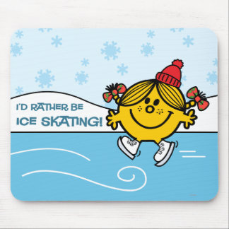 Little Miss Sunshine Ice Skating Mouse Pad