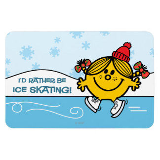 Little Miss Sunshine Ice Skating Rectangular Photo Magnet