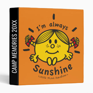 Little Miss Sunshine | I'm Always Sunshine 3 Ring Binder