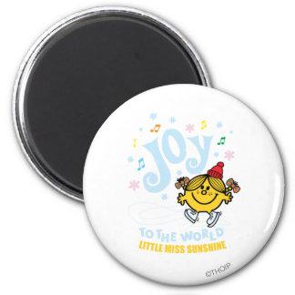 Little Miss Sunshine   Joy To The World 2 Inch Round Magnet