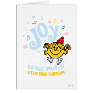 Little Miss Sunshine | Joy To The World Card