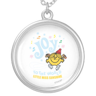 Little Miss Sunshine | Joy To The World Silver Plated Necklace