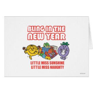 Little Miss Sunshine & Little Miss Naughty Card