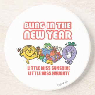 Little Miss Sunshine & Little Miss Naughty Coaster