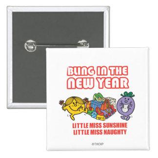 Little Miss Sunshine & Little Miss Naughty Pinback Button