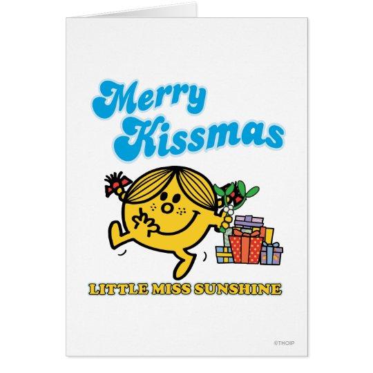 Little Miss Sunshine   Merry Kissmas Card
