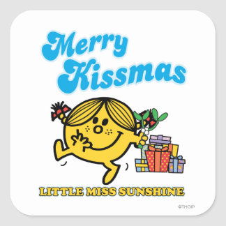 Little Miss Sunshine | Merry Kissmas Square Sticker