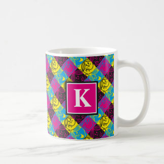 Little Miss Sunshine | Neon Pattern | Monogram Coffee Mug