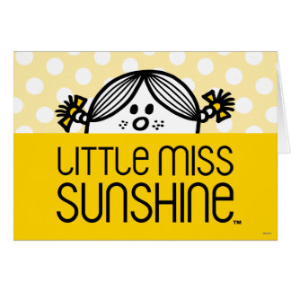Little Miss Sunshine Peeking Over Name Card