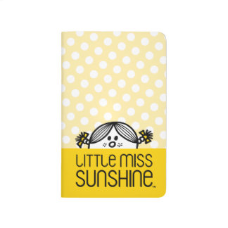 Little Miss Sunshine Peeking Over Name Journal