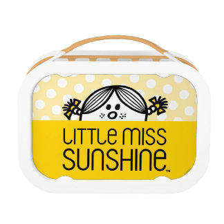 Little Miss Sunshine Peeking Over Name Lunch Box